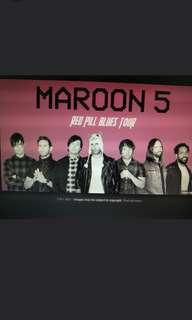 2 x Maroon 5 Cat B Tickets (Section 112)