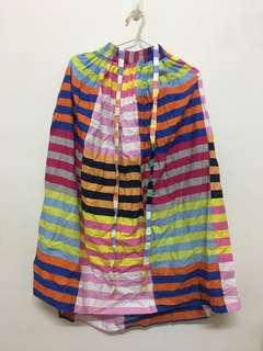 🚚 古著彩色條紋裙(附可拆吊帶)