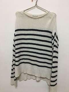 🚚 Zara條紋針織上衣