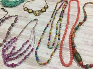 Necklaces, rings and more
