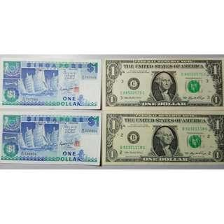 Old legal Singapore and US Notes