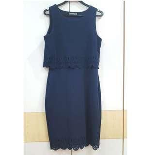 🚚 TEMT Navy Blue Dress