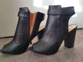 Size 9 Black Heel Boots from Boohoo