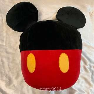 Disney Mickey Mouse Round Solid Cushion Japan Authentic [Toreba]