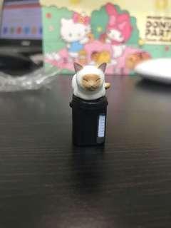 貓咪的就定位置 黃白貓熱水瓶 扭蛋轉蛋