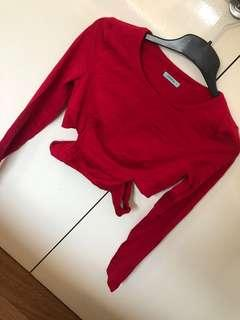 KOOKAI LONG SLEEVE CUT OUT CROP