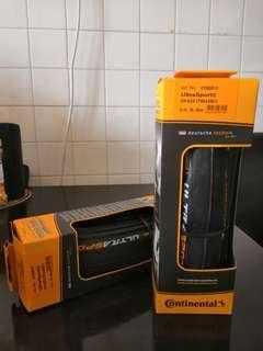 Continental Ultra Sport 2 Folding Tyre 700x25c (Pair)