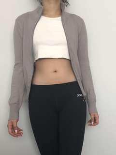 Zipper grey jacket