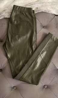 Aritzia Wilfred Black Leather Leggings - XS