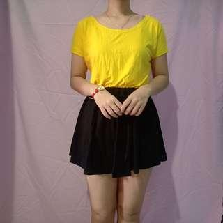 NEW Blouse Yellow black Fit to L
