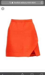 Kookaï Virgo Red Ashbury Mini Skirt size 36