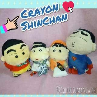 CRAYON SHINCHAN plushies bundle