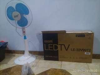 LED TV 32 dan Kipas Angin
