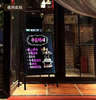 Brand New - LED Animated Shop Advertisement Black Board