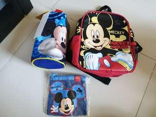 🚚 Mickey Mouse Bag & Water bottle cover