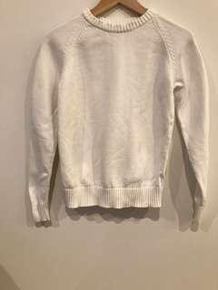 Assembly White Knit Jumper Size 8