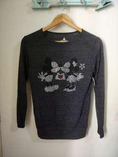 Disney Parks Mickey and Minnie Mouse Long Sleeve Shirt