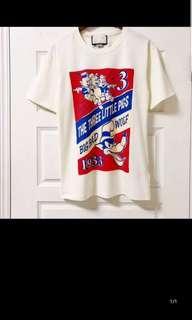 🚚 Brand new cut label gucci pig tshirt tee S M L XL