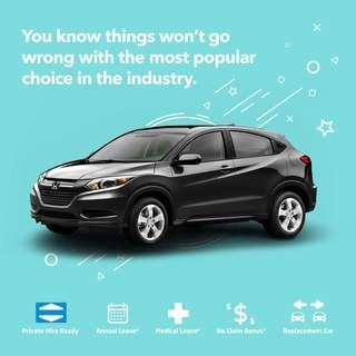 Honda Vezel Hybrid - Car Rental for Grab/Private Hire use