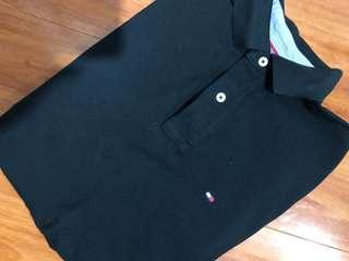 TOMMY HILFIGER BLACK POLO