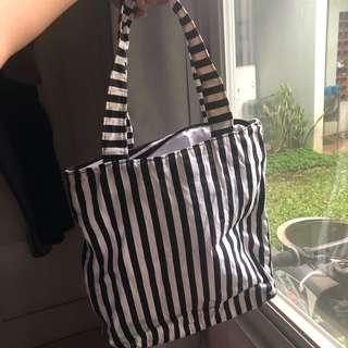 Tote bag stripe canvas