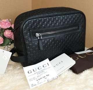 Gucci Men Clutch Brown & black