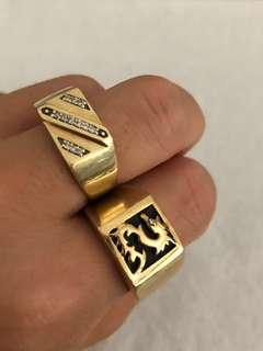 MENS YELLOW GOLD RINGS