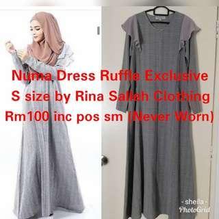 Numa Dress Ruffle Exclusive by Rina Salleh Clothing