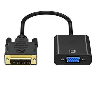 🚚 DVI D 24+1 25 Pin Male to VGA Female Adapter Full HD 1080P Video Dvi-d a VGA Active Cable Converter for TV PS3 PS4 PC