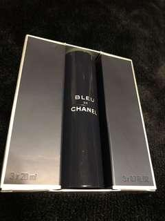 🚚 New authentic CHANEL Bleu perfume travel kit with refills for sale!