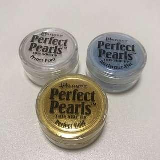 共3盒 美國 Ranger 手工 珍珠粉  Perfect Pearl Pigment Powder