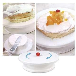 Turning table cake decorating table cake stand