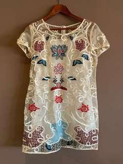 🚚 中國風蕾絲刺繡仙女洋裝