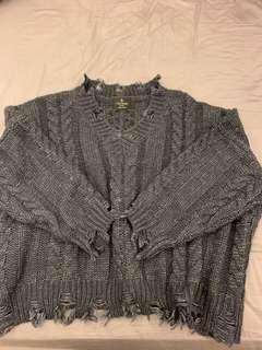 🚚 正韓V領編織毛衣