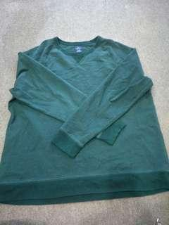 Sweater plus size XXL green