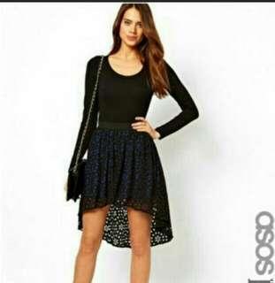 BN ASOS Petite Laser Cut Skirt (uk 6)