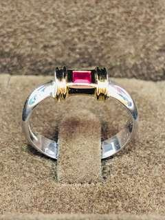 Tiffany & Co. 750/925 Ruby Ring (R0385)