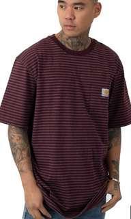 🚚 Sz S carhartt k87 port stripe workwear shirt