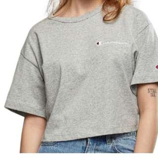 Size Small Champion Top - White/Grey/Navy