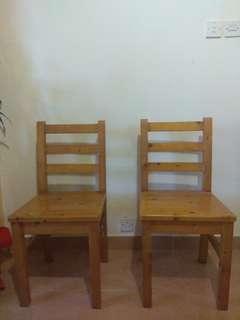 實木凳兩張