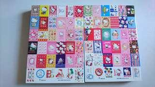 Hello Kitty 25th Anniversary Postcard Set 100 postcards 1974-1999