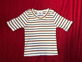 🚚 Multi colored striped top