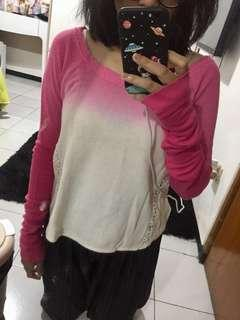 sweatshirt ombre / baju lengan panjang / sweater