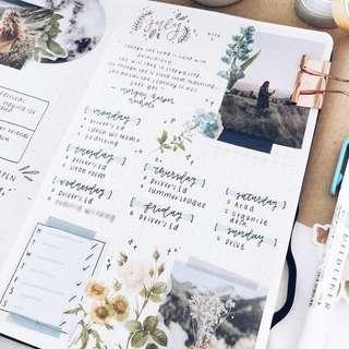 cheap and aesthetic bujo / stationery / scrapbooking grabbag