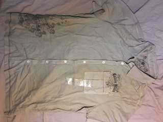 Calvin Klein Ck short sleeve shirt new size M 恤衫 襯衫
