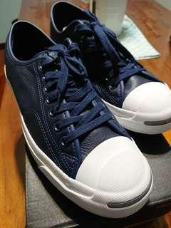 2a66d5dec3b0 Converse Jack Purcell Leather Sneakers (NAVY)