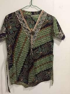 Green Batik Top