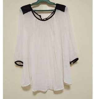 White long sleeves formal top