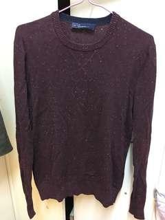 Gap cashmere jumper 90% new burgundy red size xs 毛衣 冷衫 unisex