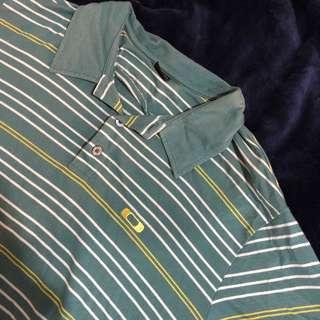 古著 Polo衫 條紋 XL 復古